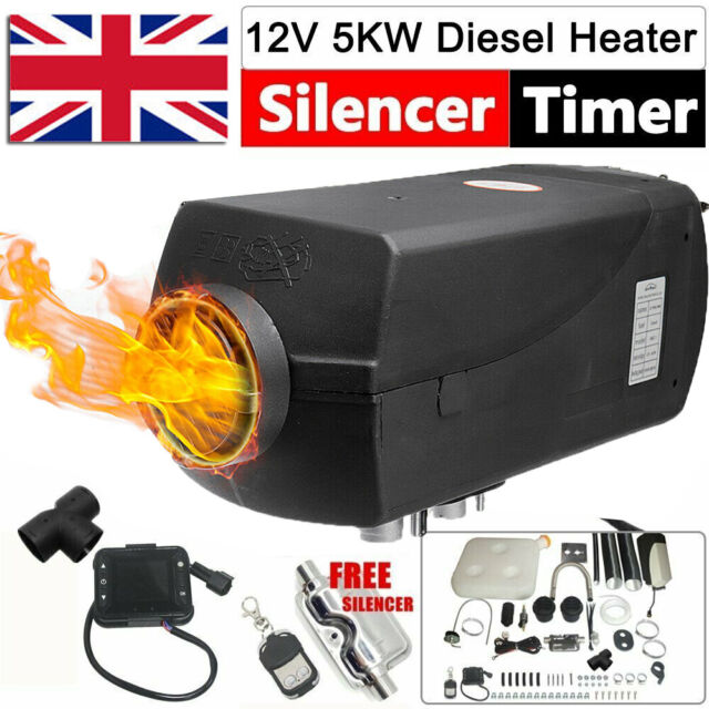12V 5KW Diesel Air Heater LCD Remote Control For Car Trucks Boats Motorhome Vent