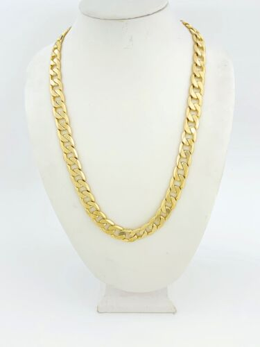 """STYLE 2 24/"""" or 30/"""" 12 mm Wide Details about  /CUBAN LINK CHAIN GOLD PLATED"""