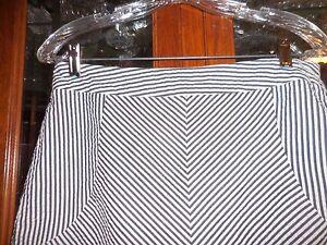 fc4a857c51d26f SANDRO womens FAB 10 skirt golf short seersucker black white stripes ...