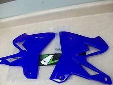 UFO Plastics YA04834-089 Radiator Covers Reflex Blue Yamaha YZ 250,YZ 125