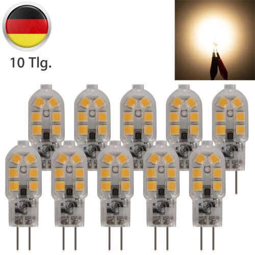 10× G4 3W LED Glühbirne 2835 SMD Sparlampe Leuchtmittel Steck Lampe Stiftsockel