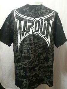 Tapout-Bad-For-The-Sport-T-Shirt-Black-Graphic-All-Around-Print-Mens-Size-XL-LN