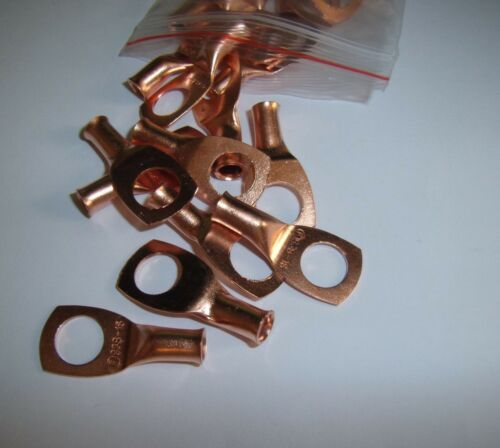 """Wire Ring Terminal Copper 8 AWG Gauge 3//8/"""" Connectors Car Audio Terminals 4"""