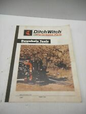 Ditch Witch Performance Parts Downhole Tools Parts Catalog 2004