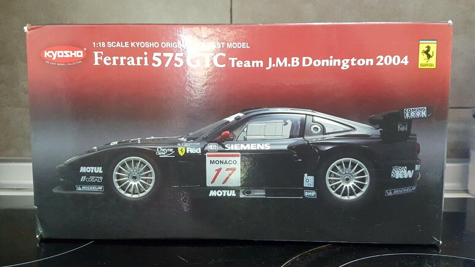 1.18 Ferrari 575 GTC convoy jmb donington 2004 (kyosho)
