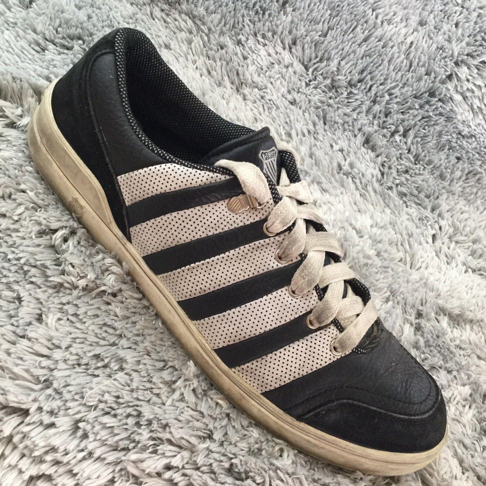 K Swiss Low Kayswiss Black White 02300002 Mens Shoes Us 13/ Eur 47 J