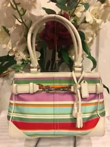 Nylon Hamptons Streep Coach Carryall Multicolor Medium Tasf10704pu180 W92IYEDH
