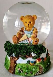 Vintage-Musical-Snowglobe-Teddy-Bear-Cherished-Teddies-P-Hillman-1998-Enesco