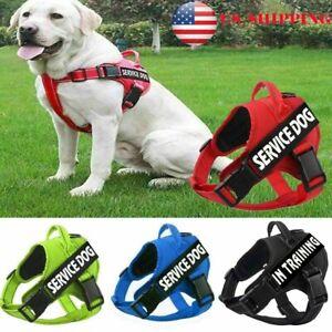 US-Pet-Dog-Cat-Harness-Nylon-Walk-Control-Strap-Safety-Vest-Adjustable-amp-2-Patch