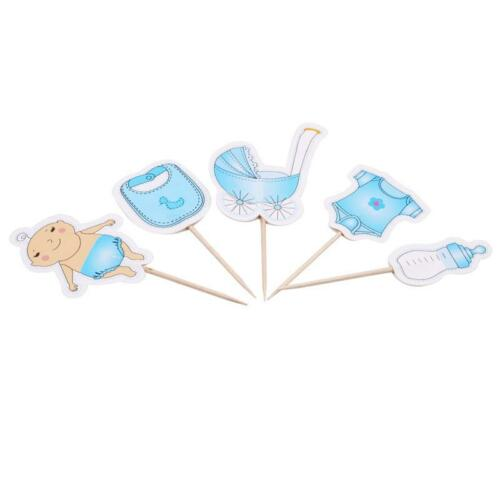20Pcs//pack Baby Carriage Boy Girl Cake Cupcake Topper Party Supply Home Decor