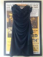 Vintage 1940s/50s/80s Classic Black Sweetheart Evening Cocktail Dress UK8 10