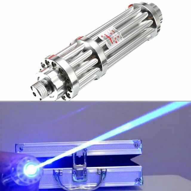 450nm High Power Thor Blue Laser Visible Beam Focus Laser Torch Burn Match Light Office