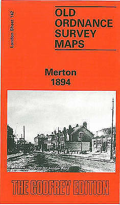 OLD ORDNANCE SURVEY MAP Merton 1894: London Sheet 142
