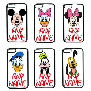 online retailer e8d4b bfe35 Details about Personalised Mickey Minnie Mouse Disney Initial Any Name iPod  Phone Case 4 5 6 7