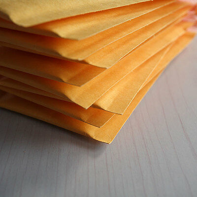 FM 10X 90*130+40mm Kraft Bubble Bag Padded Envelopes Mailers Shipping Yellow CA3