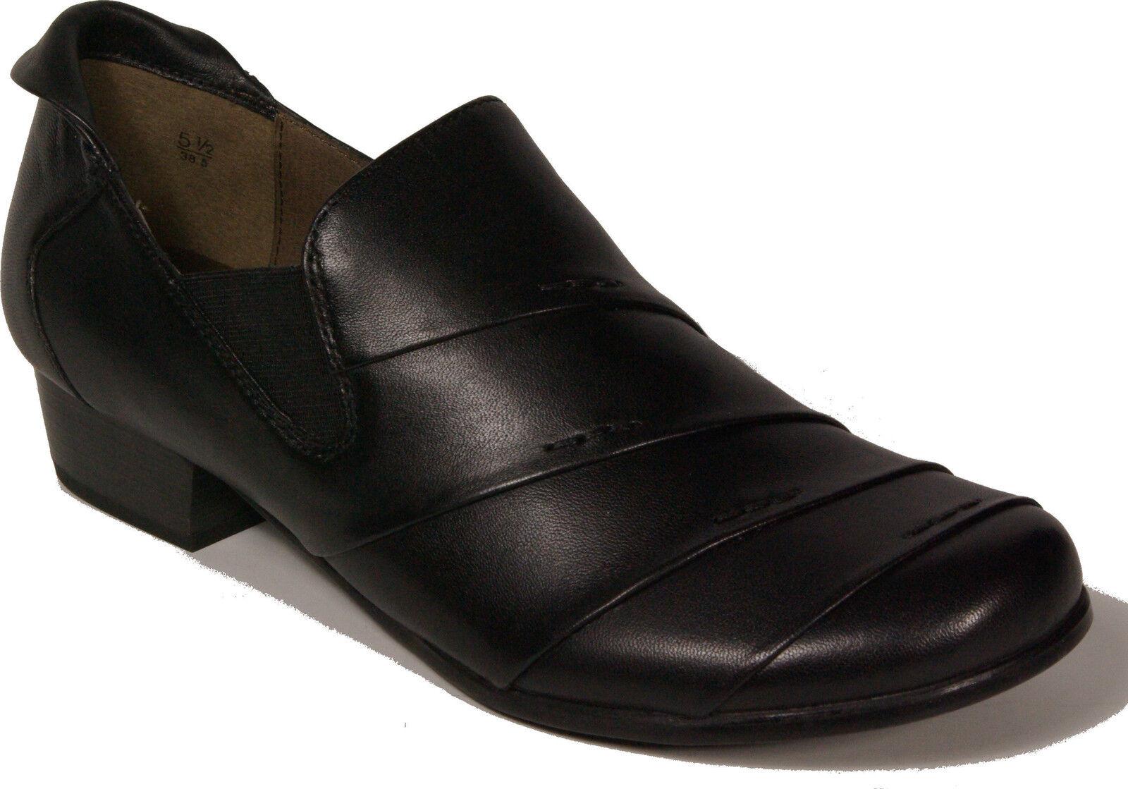 CAPRICE Schuhe Pumps Hochfront Schwarz echt Leder - laufen auf Luft - NEU