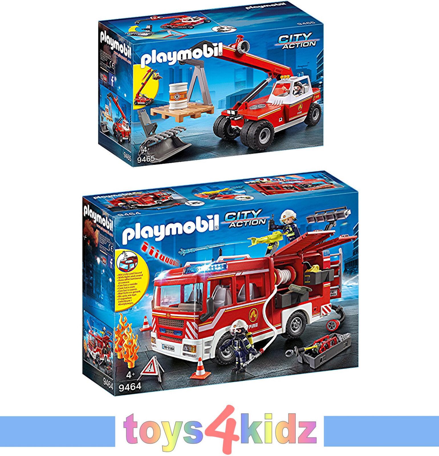 PLAYMOBIL® Feuerwehr Set 9464 9465 je 1x     NEU   OVP