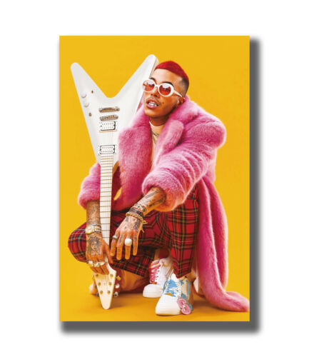 Sfera Ebbasta Rock Rap Music Silk Poster Decoration 683-20x30 27x40Inch