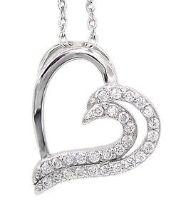 Collier Herz 925 Sterling Silber 29 Zirkonia Silberkette Halskette Damen NEU