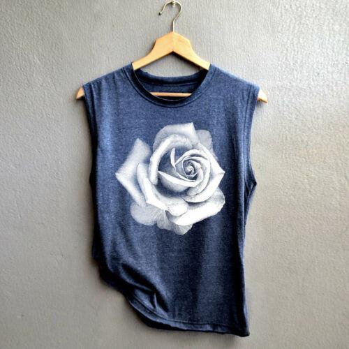 Women Summer O-Neck Sleeveless Flower Print Shirt Casual Loose Tank Tops Blouse