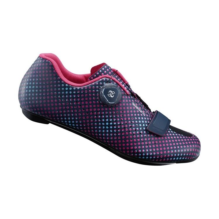 NEW 2019 Shimano RP5W Navy Dot Woman's Carbon Road Bike shoes