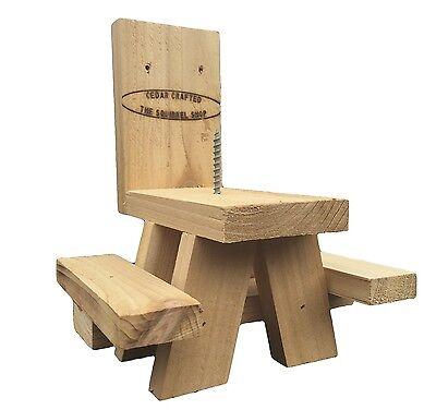 Cedar Squirrel Feeder Picnic Table w// dual corn holders