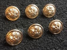 Gaunt London US USA American Army 16mm Gold / Gilt Stud Uniform Buttons