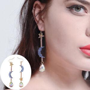 New-Blue-Moon-Star-Crystal-Dangle-Drop-Rhinestone-Earrings-Women-Fahsion-Jewelry