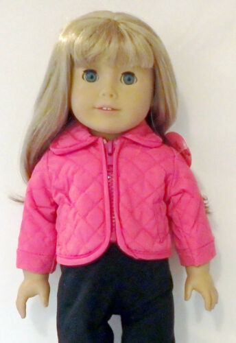 Pink Quilted Jacket Fits 18 inch American Girl Dolls