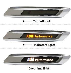 2-Amber-Led-Side-Fender-Indicators-Markers-Signals-White-Running-Daytime-Lights