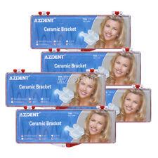 5 Kits Dental Orthodontic Ceramic Bracket Braces 55 Mbt 0022 Hooks 3 4 5