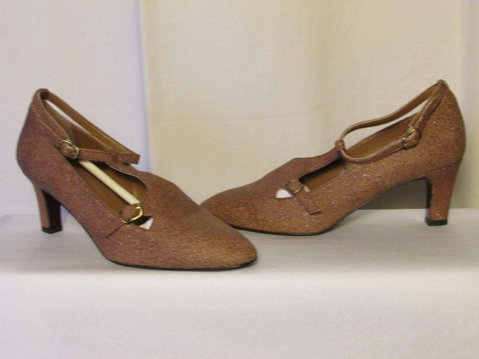 Escarpins accessoire diffusion cuir gaufré +ou- brillant fauve 37