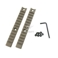 JJ Airsoft G36 CNC Machined Picatinny Rail Set Long Type (2PCS) G36 Rail (TAN)