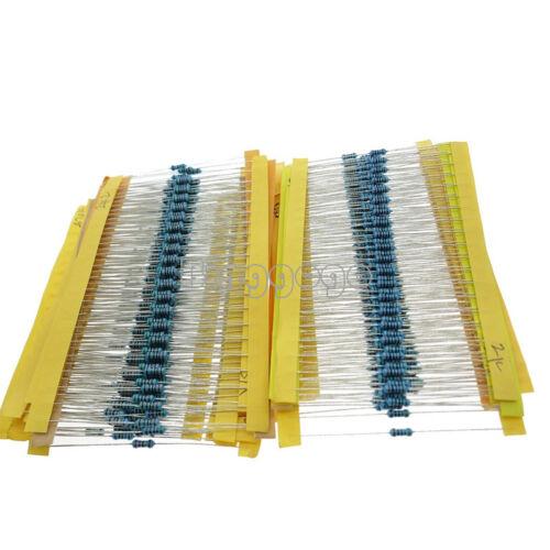 1//4w Resistance 1/% Metal Film Resistor Bag 30 kinds//Values Each 20 Total 600pcs