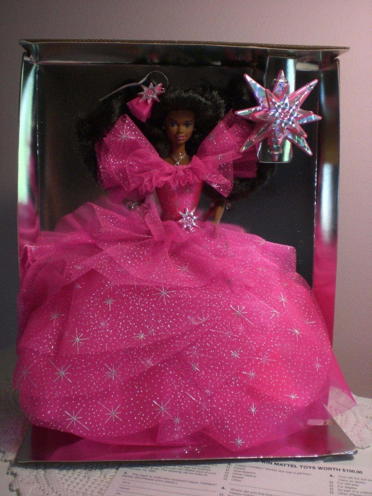 Mattel-Barbie - 1990 felices fiestas Negro Barbie