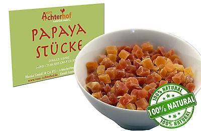 1 kg  Papaya  Papayastücke getrocknet  leicht gesüsst  ungeschwefelt