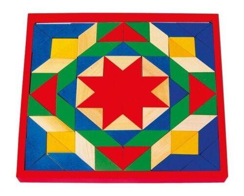 puzzle mosaico 80 pezzi colorati in legno gioco bambino//bambina