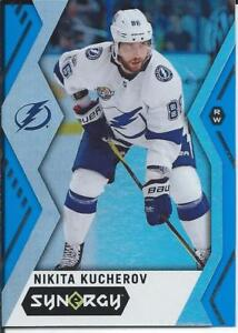 2017-18-Upper-Deck-Synergy-NIKITA-KUCHEROV-Blue-Parallel-23-Tampa-Bay-Lightning