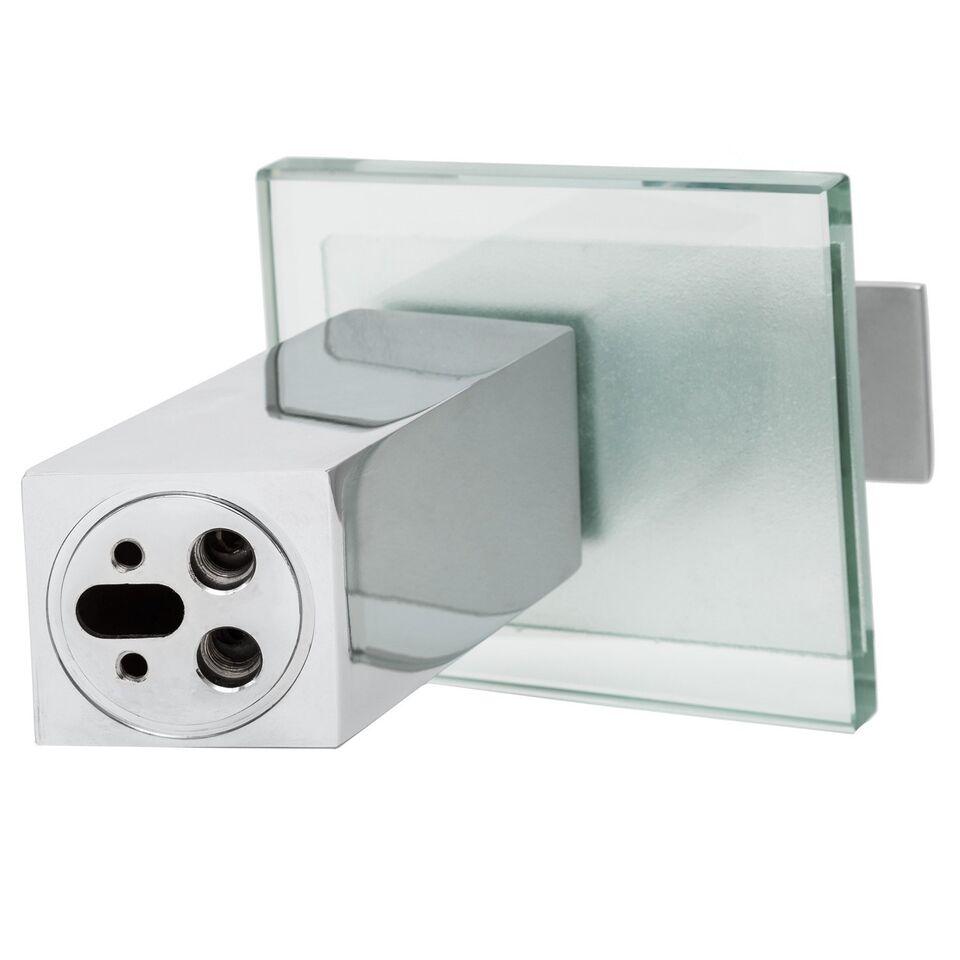 Håndvaskarmatur / vandhane med udløb i glas