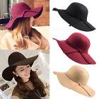 Fashion Vintage Women Lady Floppy Wide Brim Wool Felt Fedora Cloche Hat Cap lot