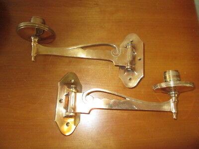 Modest 2 Sehr Schöne Alte Klavierleuchter Um 1900 Bronze Wandkerzenhalter Leuchterpaar Crease-Resistance Antike Originale Vor 1945 Metallobjekte