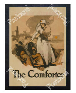 Historic-WWI-Recrutiment-Poster-Red-Cross-The-comforter-Postcard