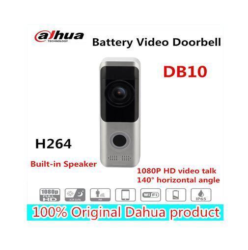 Dahua DB10 PIR Mic Battery Video Doorbell IR Wire-free Wi-Fi Clould talk  storage