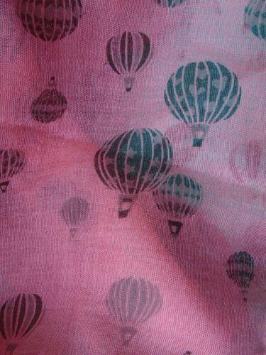 Hot Air Balloon Print Scarf Choice of 2 Colours Gift Idea