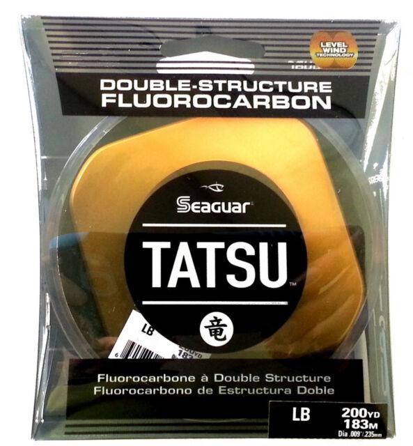 200 Yards Seaguar Tatsu Freshwater Fluorocarbon Fishing Line Select Lb Test
