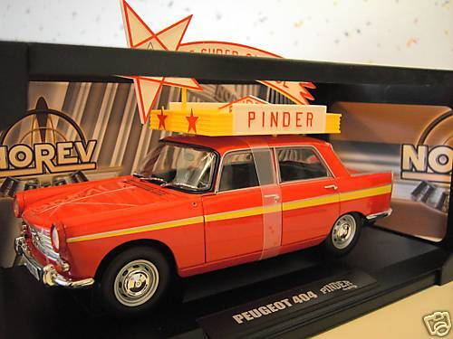 PEUGEOT 404 berline CIRQUE PINDER 1 18 NOREV 184749 voiture miniature collection