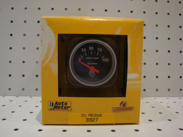 AUTOMETER AU3327 OIL PRESSURE GAUGE 2-1/16INCH SHORT SWEEP ELECTRIC 0-100 PSI