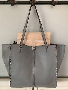 NWT-Rebecca-Minkoff-Darren-Tote-Shoulder-Bag-Grey-Leather-RP-345