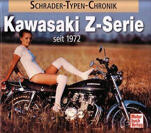 Book-Kawasaki-Z-Series-Motorbikes-Z1-750-900-1000-Brochures-Schrader-Chronik