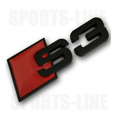 New S3 Black Badge Emblem Audi Edition Boot Decal Rear Tailgate Trunk Logo s3b